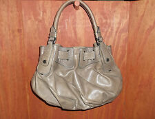 JUICY COUTURE TAUPE FREESTYLE LEATHER HOBO BAG