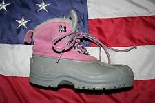 CABELA'S Pink/Gray Leather Thinsulate Winter Snow Boots Size 8: work/love #4807