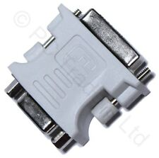 DVI Stecker Auf VGA 15 Pin Buchse Video Karte Adapter Konverter Monitor LCD