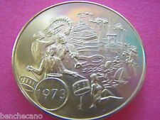 1973 Shangri-La INAUGURAL BALL Multi-Color Mardi Gras Doubloon