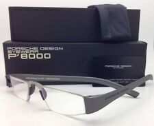 New Reader! PORSCHE DESIGN Eyeglasses P'8801 F 48-20 +2.00 Silver Frame Readers