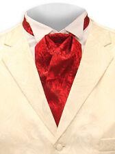 Nueva Corbata Seda Puff vintage-Rojo