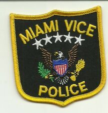 MIAMI FLORIDA VICE  POLICE patch