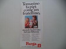 advertising Pubblicità 1972 BAMBOLA FURGA TOMASINO