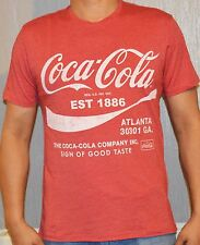 Retro Coca Cola 1886 Vintage Tshirt Brick Red 100% Cotton Medium Large Size