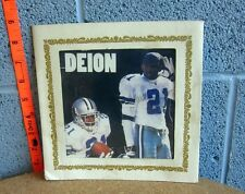 DALLAS COWBOYS framed carnival picture Deion Sanders football 1990s kitschy