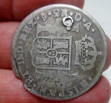 1786 DA (SANTIAGO-CHILE) 2 REALES (SILVER) ----VERY SCARCE----- RARE TYPE----