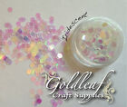 Nail Art Glitter Studs sequin discs dots 3mm - Iridescent