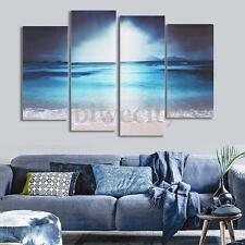 4Pcs Sea Beach Scenery HD Picture Canvas Painting Modern Art Wall Decor Unframed