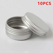 10pcs/set Cosmetic Empty Jar Pot Cream Lip Balm Bottle Box Container Tin Case