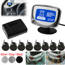 Weatherproof 8X Rear Front View Car Parking Sensors LCD Display Monitor 3 Colors