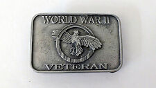 Vintage Jewelry Belt Buckle 1992 SISKIYOU WORLD WAR II VETERAN Made in USA