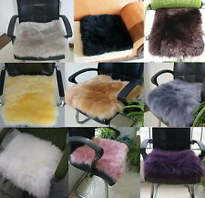 Sheepskin Long Wool Chair Sofa Cushion Car Seat Cover 10 Colors MT14