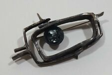 B18 Vintage Mid Century Modernist Sterling Brooch 21.4 Gr With Stone