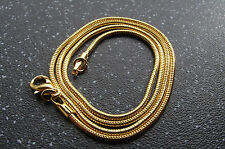 UK Jewellery Gold / Copper Style 16 inch Snake Necklace Pendant Locket Chain