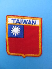TAIWAN Shield Patch Jacket Biker Vest Backpack Travel Country Crest