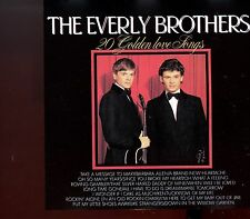 The Everly Brothers / 20 Golden Love Songs - MINT CD