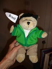 Starbucks Bear BRASIL Destinations Series Green Jacket 2008 35th Edition RARE