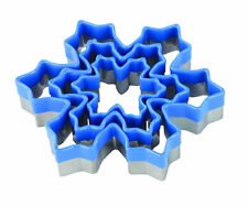 Tala Set of 3 Snowflake Cookie Biscuit Pastry Craft Cutters Blue Silicone Tops