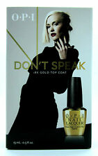 OPI Gwen Stefani Don't Speak 18K Gold Top Coat x2 15ml Bottles!!!