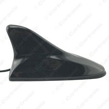 Black Car Auto 3in1 Shark Fin F Connector 3.5 TRS IEC Booster Car TV Antenna