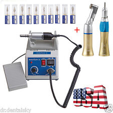 Dental Lab 35K Marathon Micro motor N3 Slow Handpieces 10 Bur Drills From US SI3