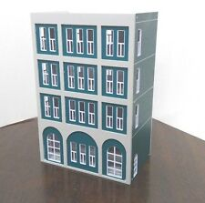 HO scale Painted Residential building 1:100 for HO gauge model train layout F