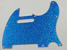 D'ANDREA PRO TELECASTER PICKGUARD 8 HOLE BLUE SPARKLE MADE IN THE USA