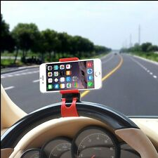 Car Steering Wheel Phone Holder Mount Clip Stand Socket for Samsung iPhone HTC