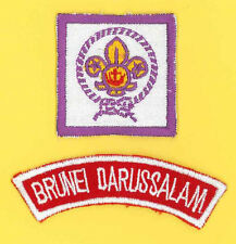 SCOUTS OF BRUNEI - SCOUT Membership Rank Award Badge & Strip Patch SET