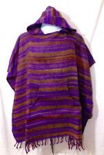 NEW FAIR TRADE HIPPY BOHO FESTIVAL ETHNIC FLEECE BLANKET PONCHO FROM INDIA
