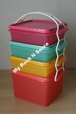 TUPPERWARE Square Keeper Goody Box w/Carolier  Cup New