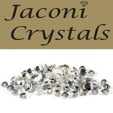 100 x 4mm JACONI Clear Glass Loose Round Flat Back Crystal Body Vajazzle Gems