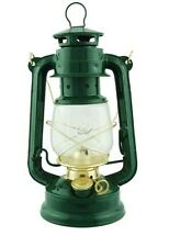 GREEN hurricane 10 in lamp light oil lantern hanging kerosene rustic CMP 1226 gd