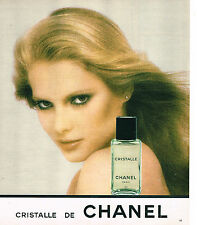 PUBLICITE ADVERTISING 035 1978  CHANEL  2   eau de toilette parfum CRISTALLE