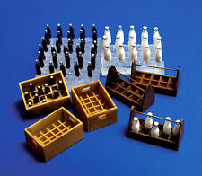 Plus Model 1/35 Milk Bottles and Crates  #221