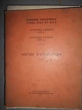 Ford moteur industriel 216E 217E - 216 217 E : notice utilisation