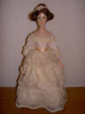 Rare Handmade Ann Parker English Costume Doll, 1830s Lady in Lace Dress