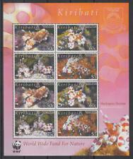 Kiribati - Michel-Nr. 983-986 postfrisch/** als Kleinbogen (WWF Garnele / Shrimp