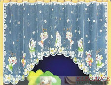 QUALITY CHILDREN NET CURTAIN HAND PAINTED