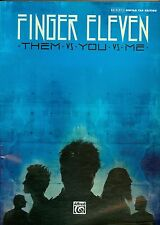 Finger Eleven Authentic Guitar Tab Songbook sheet music Them vs You vs Me