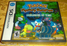 Pokemon Mystery Dungeon: Explorers of TIME NES Nintendo DS, 2009 NEW Sealed GAME