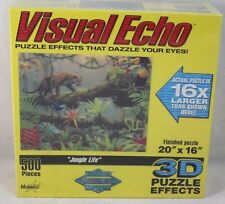 Visual Echo 3D Effect Jungle Life Floral Tiger Snakes Birds 500pc Puzzle NEW