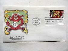 "January 6th, 2000 ""Year Of The Dragon"" Chinese New Year First Day Issue"