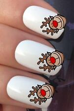 CHRISTMAS NAIL ART #796 REINDEER CORNER TIPS WATER TRANSFERS DECALS STICKERS