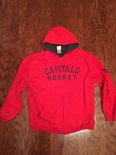 NHL Red CAPITAL HOCKEY Heavy Weight FURLY LINED Hoodie JACKET Size XL