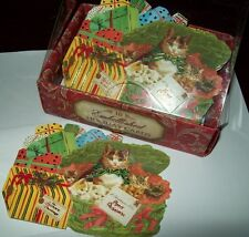 NEW BOXED PUNCH STUDIO CAT KITTEN HOLIDAY CHRISTMAS KITTIES CARDS ENV 10 CT