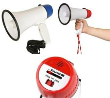 Megaphone Bullhorn with Siren Sound. Loud Handheld Mic Speaker Amplified Voice