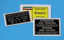 FERRARI PAINT CODE DECAL L GLASURIT ROSSO CORSA 300/6/COOLANT/VOLTAGE SET