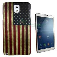 PELLICOLA+Custodia bandiera americana USA per Samsung Galaxy Note 3 N9005 cover